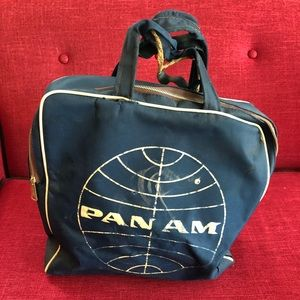 1950s Pan Am Airline Bag Travel Weekend Hand Tote